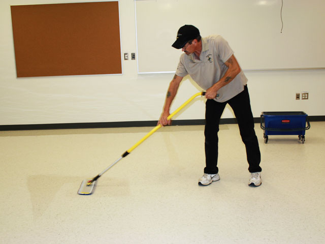 Post Construction Cleanup - South Queens Middle School - cleaning-floors